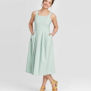 Universal Thread Sleeveless Mini Denim Dress Midi